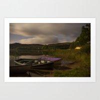 Boats on the Loch Art Print