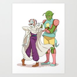 Bird Mom and Green Dad Art Print