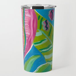 Pink Leaf Travel Mug