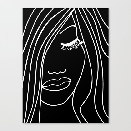Onyx Portrait Canvas Print