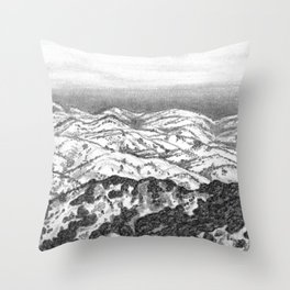 San Jose Hills Throw Pillow