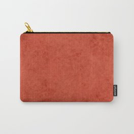 Orange suede Carry-All Pouch