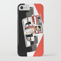 senna iPhone & iPod Cases featuring Ayrton Senna x McLaren by Sean Kane Design