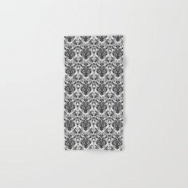 Burlesque Damask Black and White Hand & Bath Towel