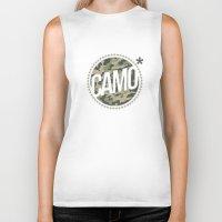 camo Biker Tanks featuring Camo by GabrieleCigna