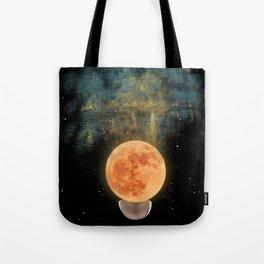 Moon Head's dream Tote Bag