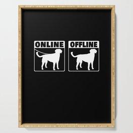 Kleiner Münsterländer Online Hund Jagdhund Serving Tray