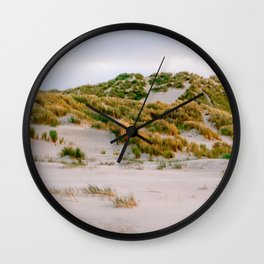 Dunes of Terschelling, Holland    Travel photography Sand Beach Island Nature Lanscape Summer Sunset Wall Clock