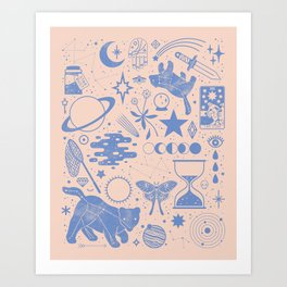 Collecting the Stars Art Print
