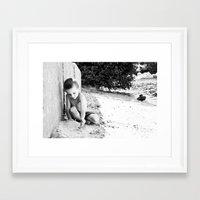 caleb troy Framed Art Prints featuring caleb by jessiedawnbernache