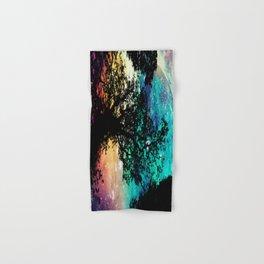 Black Trees Colorful Space Hand & Bath Towel