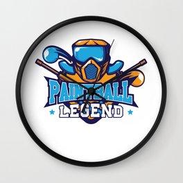 Paintball Legend Extreme Sports Pro Amateur T-Shirt Wall Clock