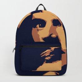Jack London - portrait navy and yellow orange Backpack