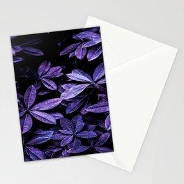 Stillness, Botanical Plants Leaves Stationery Cards