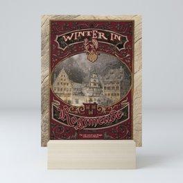 Winter in Hogsmeade - The Three Broomsticks Mini Art Print