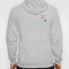 Pansexual Hello Hand Palm Pan Flag Pride Equality Cool Humor Design Pun Gift Hoody