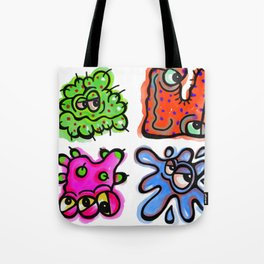 Watercolor Germ Doodles Tote Bag