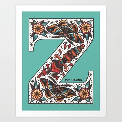 Society 6 Alphabet - Z