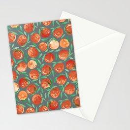 Winter Oranges | Grey Background Stationery Cards