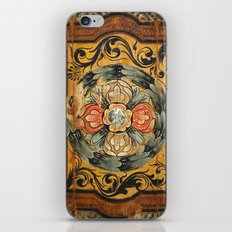 medieval wood painting iPhone & iPod Skin