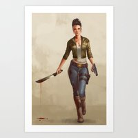 grace Art Prints featuring Grace by Kelly Perry