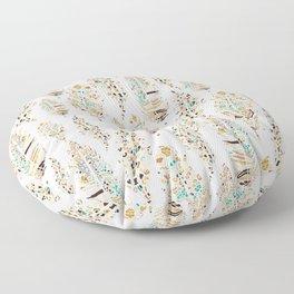 Boho Festival Feather Floor Pillow