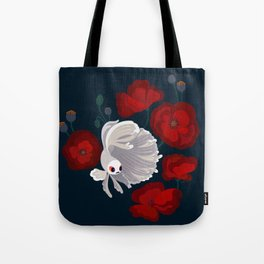 Bettas and Poppies Tote Bag
