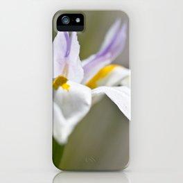 White Iris, close up - Botanical Photography iPhone Case