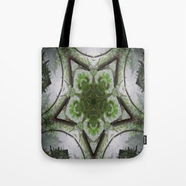 Green and Silver Tree Mist Part 1 Tote Bag