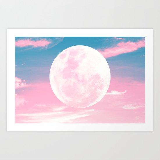 Supermoon Art Print
