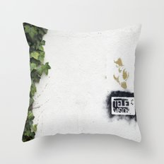 Television versus nature Throw Pillow