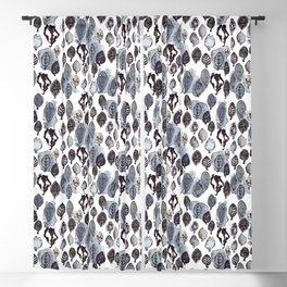 Wax Leaves-Gray Blackout Curtain