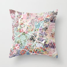 Austin map - Portrait Throw Pillow