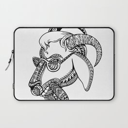 Goat Cigar Tribal Tattoo Style Laptop Sleeve