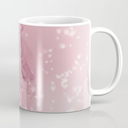 Light Pink Rose with hearts #1 #floral #art #society6 Coffee Mug