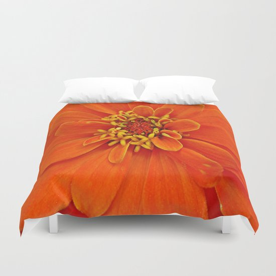 Orange Petals Duvet Cover
