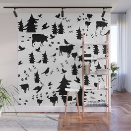 Cow Out In the Pasture by Lorloves Design Wall Mural