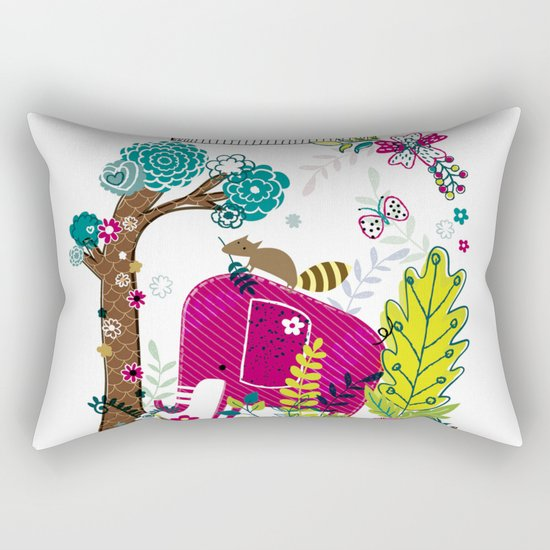Elephant in a jar Rectangular Pillow