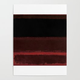 1958 Four Darks on Red by Mark Rothko Poster