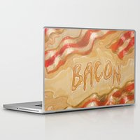 bacon Laptop & iPad Skins featuring Bacon by Kristin Frenzel