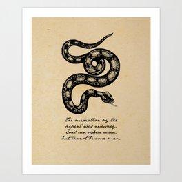 Franz Kafka - Mediation by the Serpent Art Print