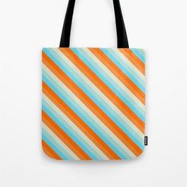 Goldfish Diagonal Striped Pattern Tote Bag