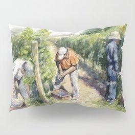 Vineyard Watercolor Landscape Wine Grapes Nature Pillow Sham