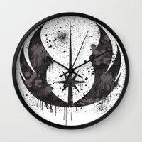 jedi Wall Clocks featuring Jedi mark by Ainy A.