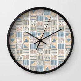 romanian folk art inspired Wall Clock