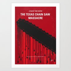No410 My The Texas Chain Saw Massacre minimal movie poster Art Print