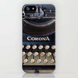 Corona Typewriter iPhone Case