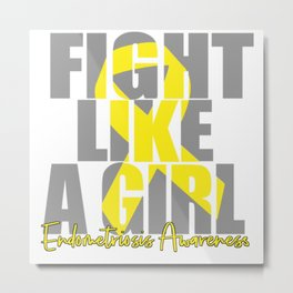 Endometriosis fight Metal Print