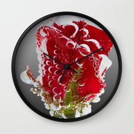 Rose Bubbles Wall Clock