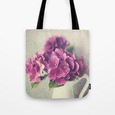 Winter Hydrangea Tote Bag